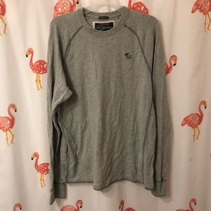 Gray Distressed Abercrombie & Fitch Sweater